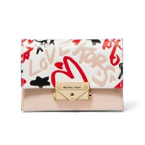 MICHAEL KORS Small Cece Qiki Grafitti Card Case